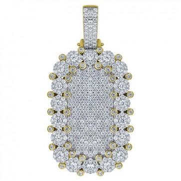 Micro Dogtag Diamond Pendant