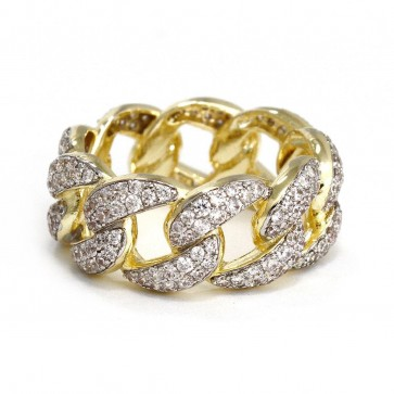 Miami Cuban Link Diamond Ring