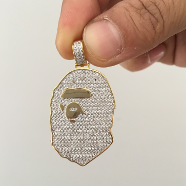 Custom Gold Ape Designer Pendant