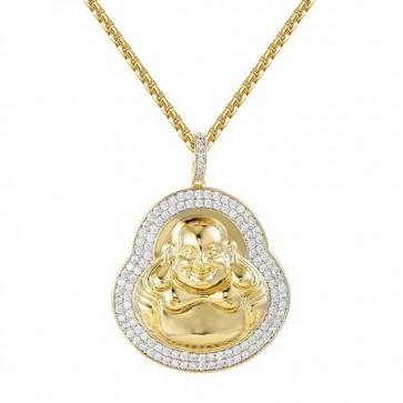 "Gold Buddha Pendant 2"""