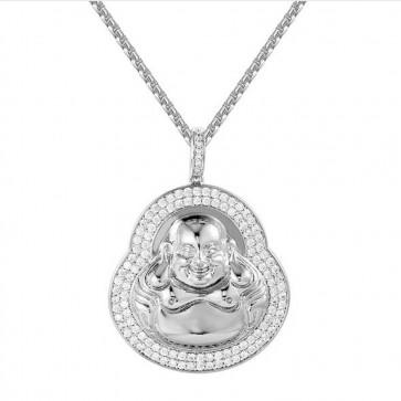 "Silver Buddha Pendant 2"""