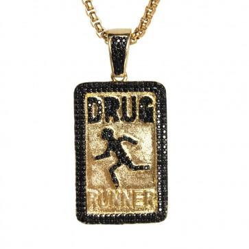 Gold Drug Runners Pendant