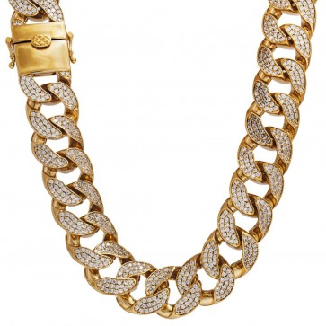 Diamond Cuban Link Chain 18mm