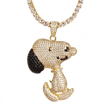 Yellow Gold Snoopy Pendant