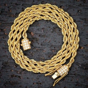 Designer Rope Chain 4mm Diamond Barrel Lock