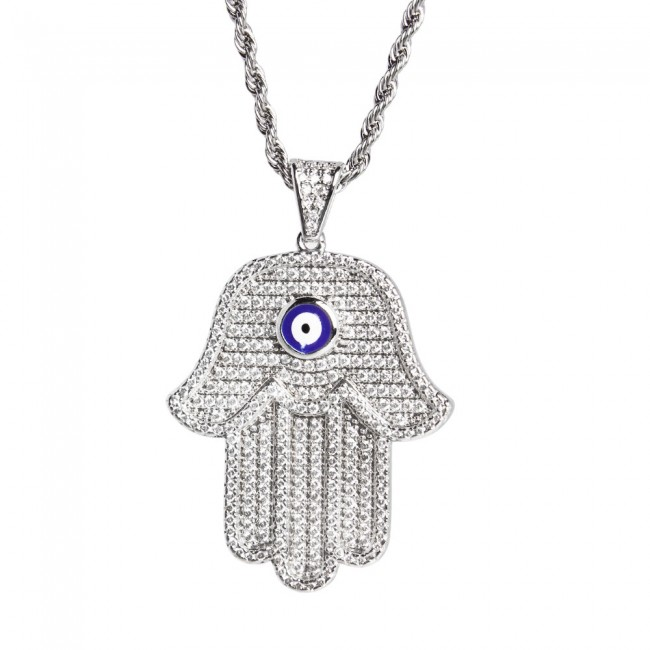 Diamond pendant hamsa diamond pendant mozeypictures Gallery