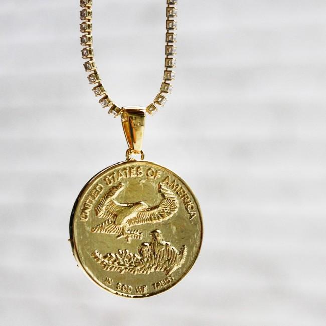 Gold liberty coin pendant custom pendants gold liberty coin pendant zoom aloadofball Images
