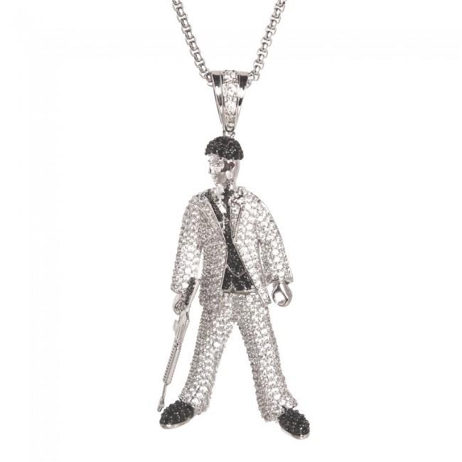 Scarface diamond pendant pendants scarface diamond pendant mozeypictures Choice Image