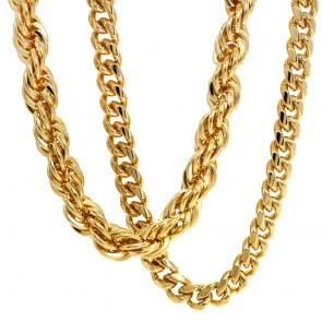 Gold Rope Cuban Chain Duo 10mm
