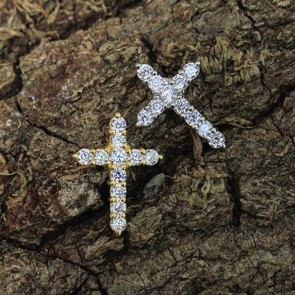 Micro Diamond Cross Pendant
