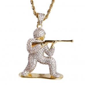 Army Toy Soldier Pendant