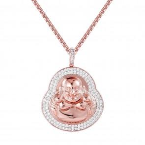 "Rose Gold Buddha Pendant 2"""