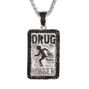 Silver Drug Runners Pendant