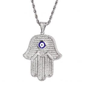 Hamsa Diamond Pendant
