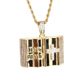 Micro Diamond Holy Bible Pendant