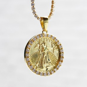 Gold Liberty Coin Pendant
