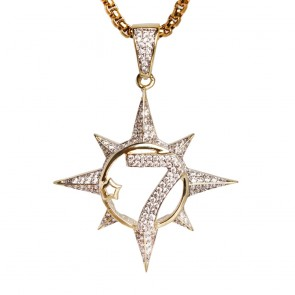 Micro Diamond Seven Star Pendant