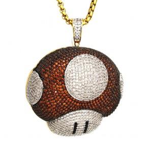 Mushroom Diamond Pendant