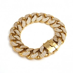 Diamond Cuban Link Bracelet 18mm