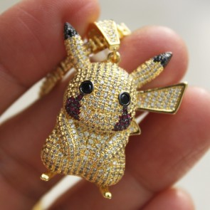 Yellow Gold Pikachu Pendant
