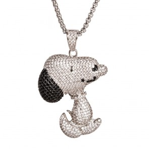 Silver Snoopy Pendant