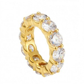 Diamond Gold Tennis Ring