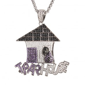 Silver Trap House Pendant