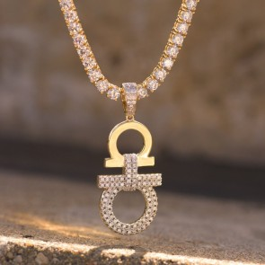 Yellow Gold AA Designer Pendant