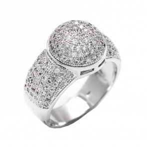 Diamond Designer Silver Fashion Ring